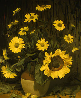 Painting - Sunflowers And Black-eyed Susans by Robert Holden