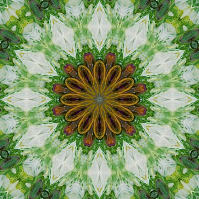 Digital Art - Sunflowers And Diamonds by Lori Kingston