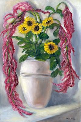Sunflowers And Love Lies Bleeding Original