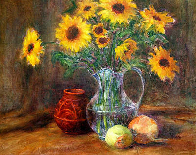 Painting - Sunflowers And Onions by Jill Musser
