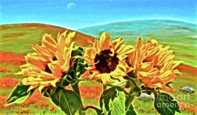 Sunflowers And Poppies Original by Jerome Stumphauzer