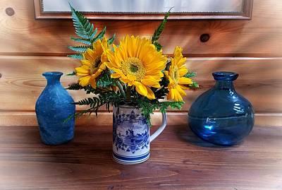 Photograph - Sunflowers And Stein by Joe Duket