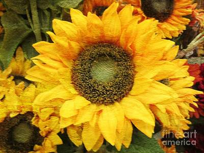 Painting - Sunflowers And The Best Of Autumnal Colors by Kimberlee Baxter