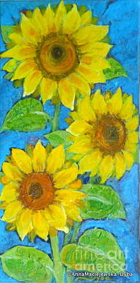 Painting - Sunflowers by Anna Folkartanna Maciejewska-Dyba