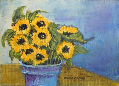 Painting - Sunflowers  by Anna Jacke