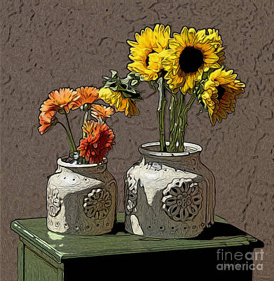 Sunflowers Art Print by Anthony Forster