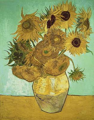 Painting - Sunflowers by Artistic Panda