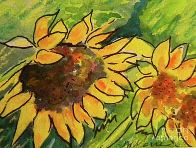 Sunflowers Painting - Sunflowers At Silver Vista by Jill Morris