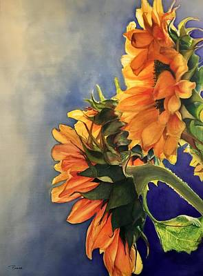 Painting - Sunflowers by Barbara Pease