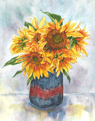 Painting - Sunflowers by Barbel Amos