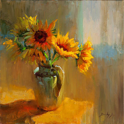 Vivid Colour Painting - Sunflowers by Becky Joy