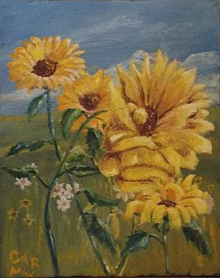 Photograph - Sunflowers by Charles Ray