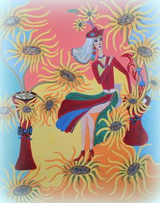 Painting - Sunflower's Contessa  by Marie Schwarzer