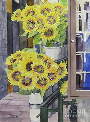 Painting - Sunflowers Cortona by Carol Flagg