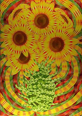Girasol Painting - Sunflowers by Denni B