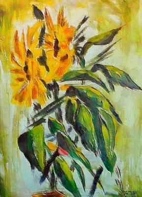 Sunflower Painting - Sunflowers by Dragica  Micki Fortuna