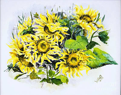 Sunflowers Art Print by Elisabeta Hermann