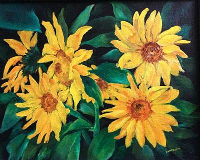 Painting - Sunflowers by Ellen Canfield