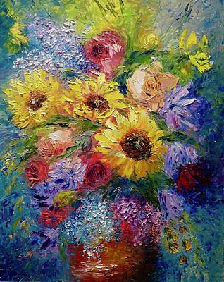 Etc Painting - Sunflowers Etc. by Marina Wirtz