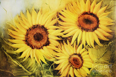 Sunflowers Art Print by Fatima Stamato