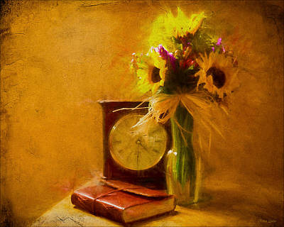 Photograph - Sunflowers Floral Still Life 4 by Anna Louise