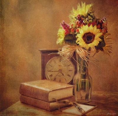 Photograph - Sunflowers Floral Still Life 6 by Anna Louise