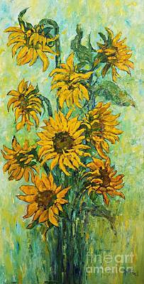 Painting - Sunflowers For This Summer by AmaS Art