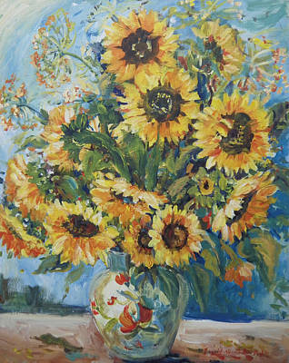 Painting - Sunflowers Galore by Ingrid Dohm