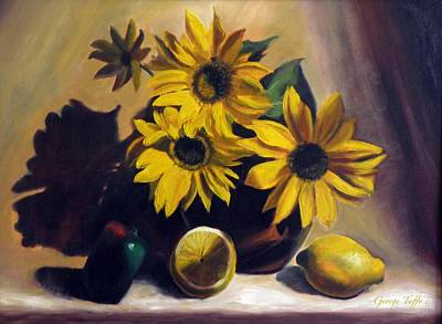 Painting - Sunflowers by George Tuffy