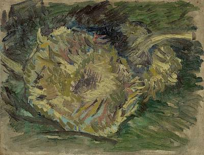 Painting - Sunflowers Gone To Seed Paris, August - September 1887 Vincent Van Gogh 1853  1890 by Artistic Panda