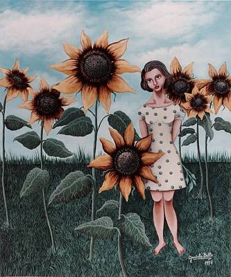 Bello Painting - Sunflowers by Graciela Bello