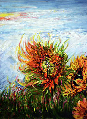 Painting - Sunflowers - Harsh Malik by Harsh Malik