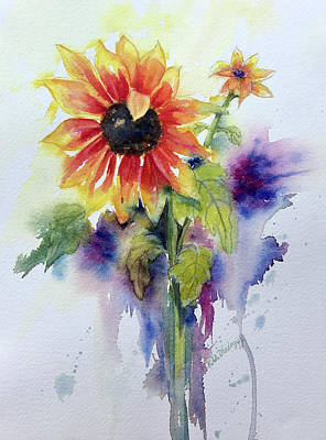 Painting - Sunflowers by Hilda Vandergriff