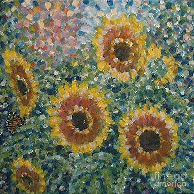 Sunflowers / Butterfly Original