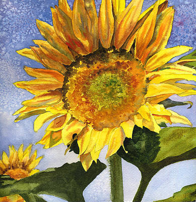 Sunflower Painting - Sunflowers II by Anne Gifford