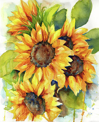 Painting - Sunflowers IIi by Peggy Wilson
