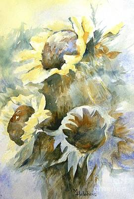 Painting - Sunflowers Ill by Madeleine Holzberg
