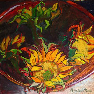 Sunflowers In Bowl Art Print