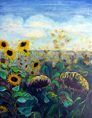Painting - Sunflowers In Tuscany by Sarah Hornsby