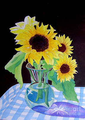 Painting - Sunflowers In Vase by Teresa Boston