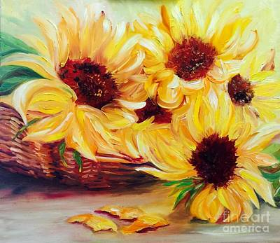 Painting - Sunflowers  by Irene Pomirchy