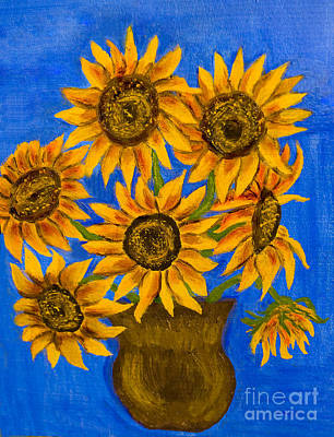 Painting - Sunflowers by Irina Afonskaya