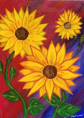 Painting - Sunflowers  by Jennah Lenae
