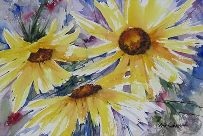 Oberst Painting - Sunflowers by Jim Oberst