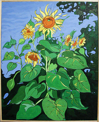 Painting - Sunflowers by John Gibbs