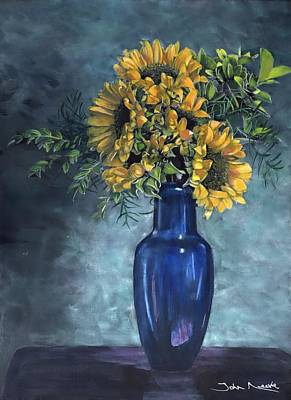 Painting - Sunflowers by John Neeve
