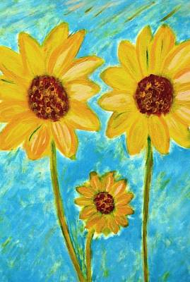 Painting - Sunflowers by John Scates