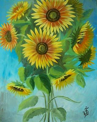 Painting - Sunflowers by Jose Velasquez