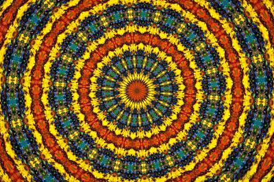 Photograph - Sunflowers Kaleidoscope by Anna Louise