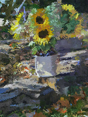Sunflowers Art Print by Kenneth Young